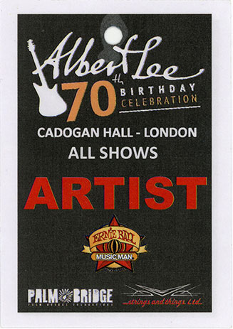 Albert Lee backstage pass