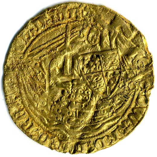 Edward III Gold Half Noble (1361-1363)