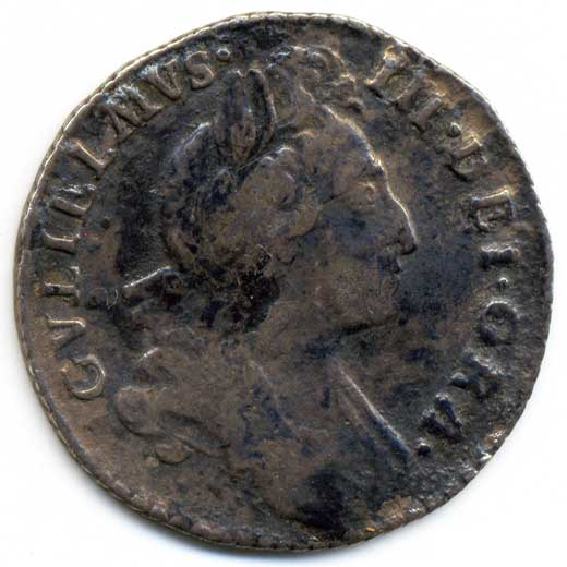 William III Sixpence (1697)