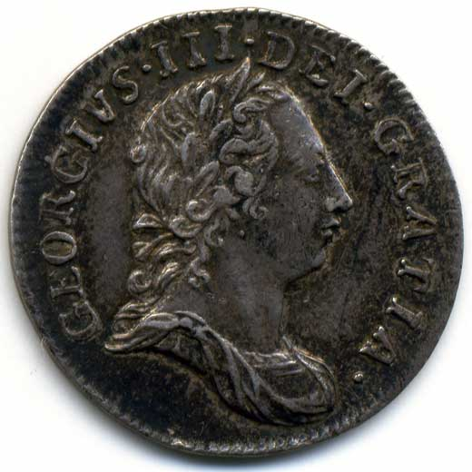George III Threepence (1762)