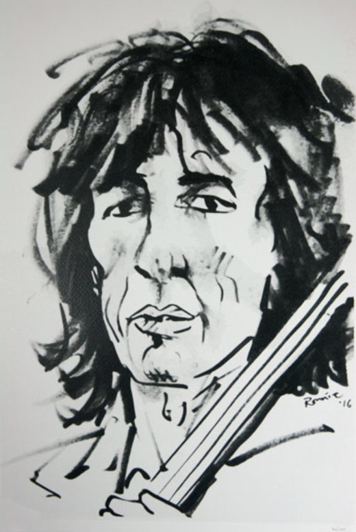 Ronnie Wood sketch print