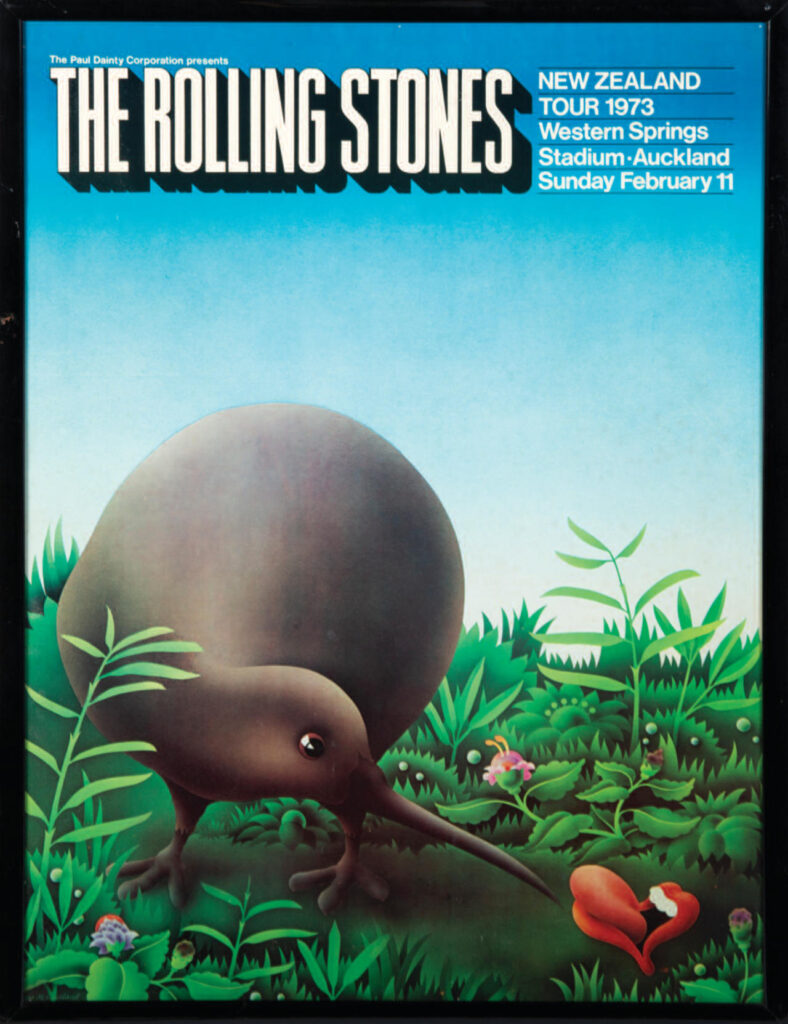 Rolling Stones New Zealand Tour Poster