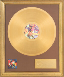 Bill Wyman Dirty Work BVMI gold record award - image 1