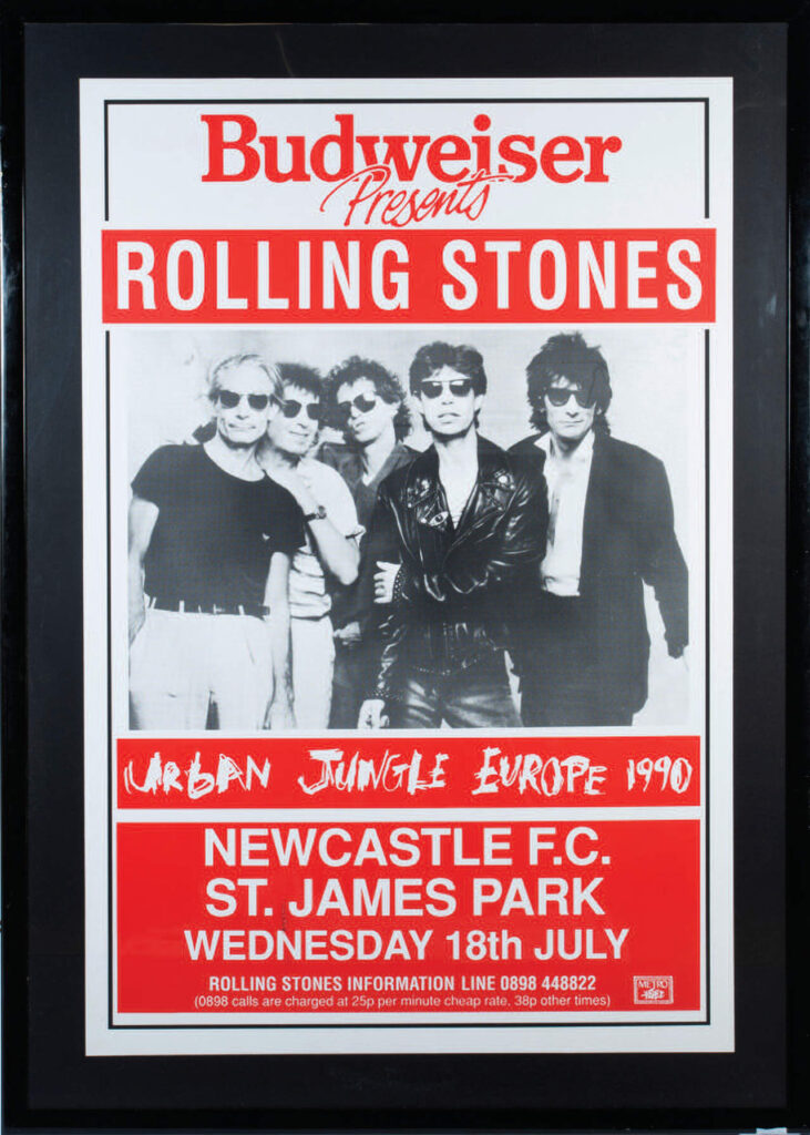 Bill Wyman Rolling Stones Urban Jungle Concert Poster - image 1